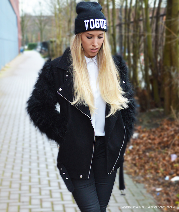 fur, sleeves, fake, notion13, jacket, coat, winter, warm, black